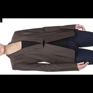 Halston Heritage Relaxed Notched Collar Blazer